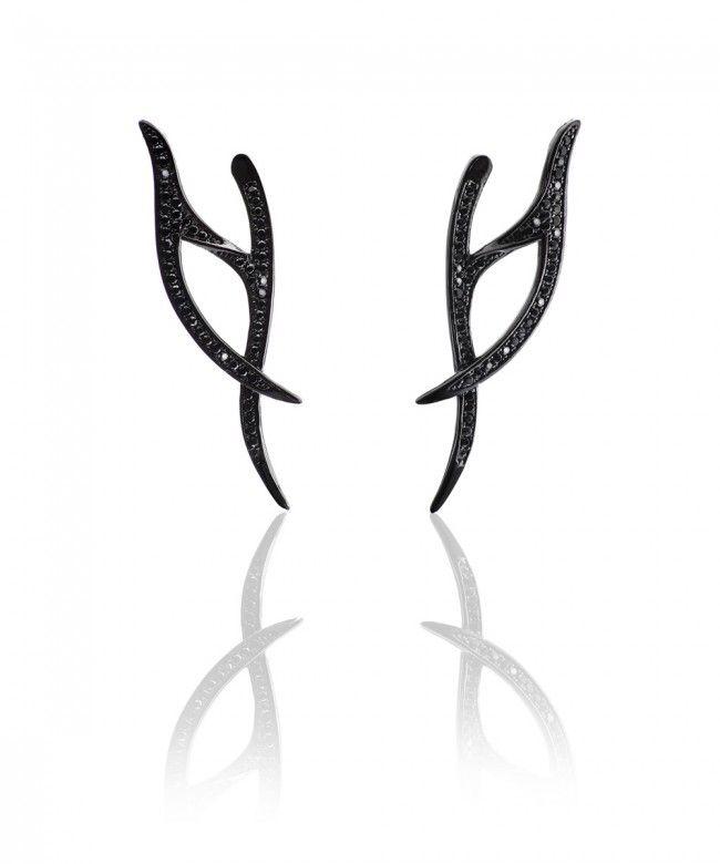 Σκουλαρίκια από Ασήμι 925 σε σχήμα Κλαδιού