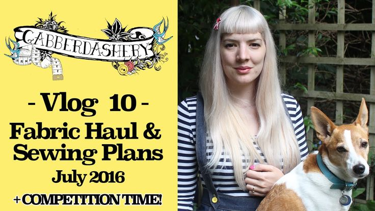 Vlog 10 - Fabric Haul & Sewing Plans for July + COMPETITION TIME!