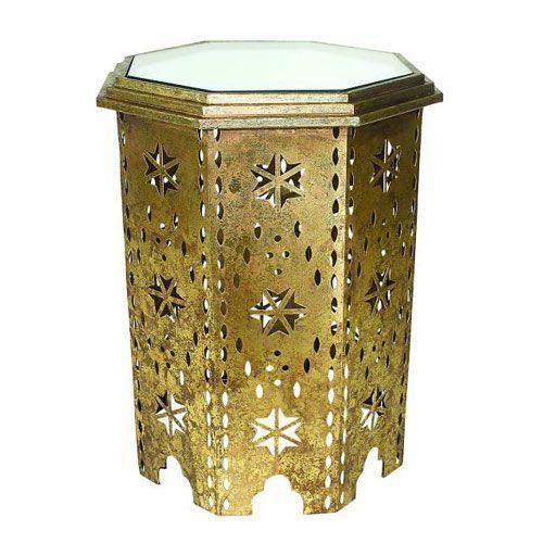 Dr Livingstone I Presume Furniture Dr. Livingstone I Presume Italian Gold Moroccan Octagonal Side Table ...