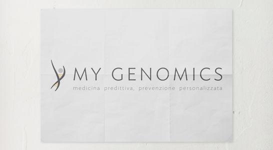 Brand Identity MyGenomics - INTERNET.SM Web Agency San Marino