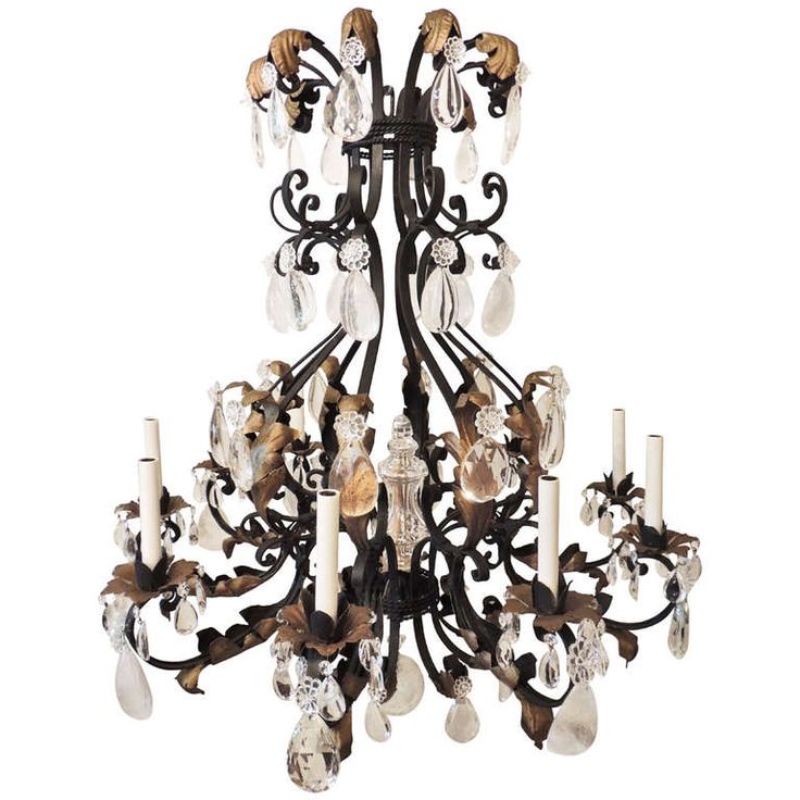 outstanding gilt wrought iron and rock crystal bagues