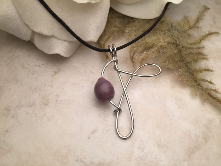 Silver Wire Purple Beaded Necklace by TCbyRachel on Etsy https://www.etsy.com/listing/120385715/silver-wire-purple-beaded-necklace