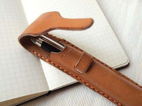 Personalized Pen Case Leather Harlex Hand Stitched by HarLex
