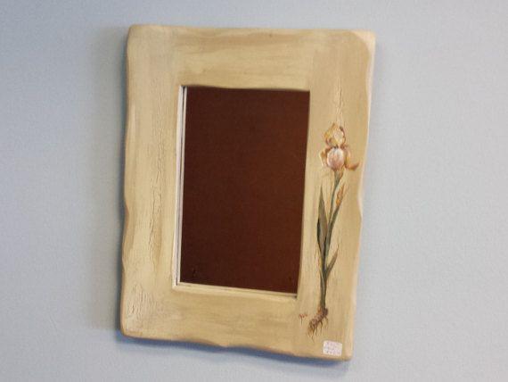 Frame / Mirror Frame / Hand Painted Mirror by HarvestTreasuresInc