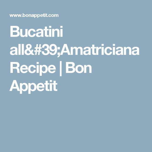 1000+ ideas about Pasta All Amatriciana on Pinterest   All Amatriciana ...