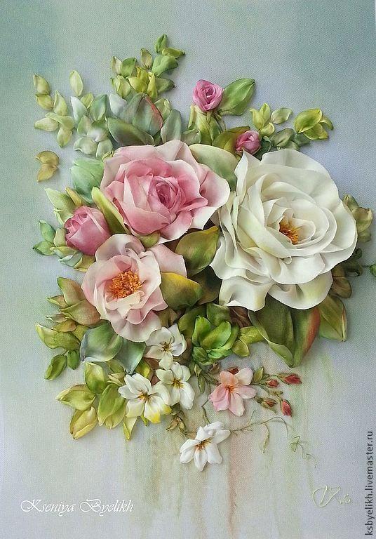 Kseniya Byelikh (Ксения Белых) Картины цветов ручной работы. Ярмарка Мастеров - ручная работа Розы после дождя. Handmade.