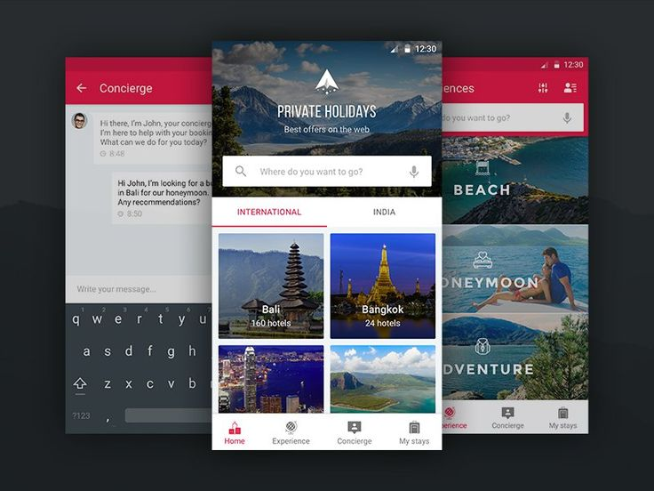 Private Holidays Travel Android App