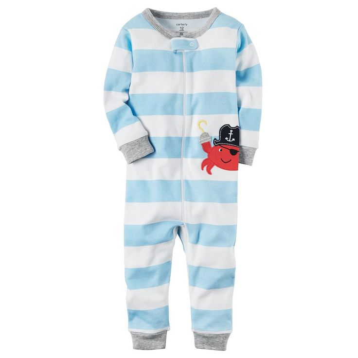 Toddler Boy Carter's Striped One-Piece Pajamas, Size: 2T, Ovrfl Oth