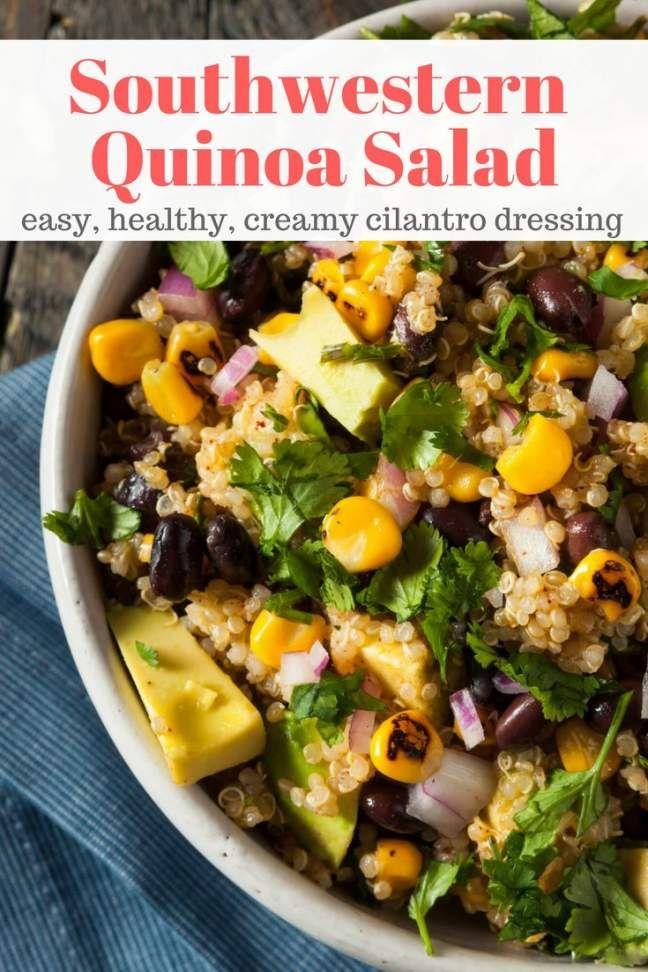 Southwest Quinoa Salad With Black Beans Corn And Avocado Slender