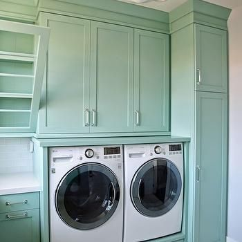 Teal Laundry Rooms