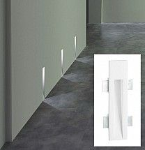 """Traddel+Gypsum+In+wall+long+steplight+12""""+opening+flat+to+floor+Natural+(4000k)+Plaster+recessed+1+LED+x+2W"""