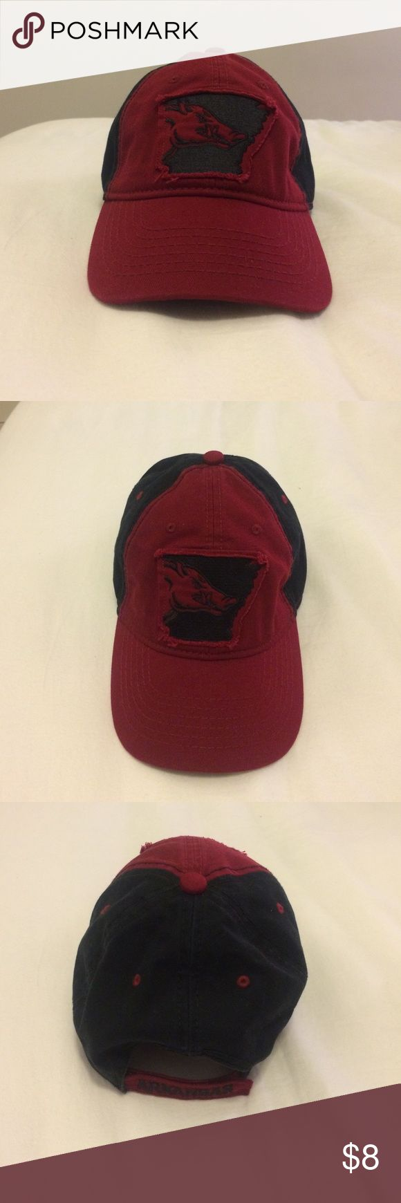 Arkansas Razorback hat Black and red Arkansas Razorback baseball cap. Perfect for game days! Never worn! Accessories Hats