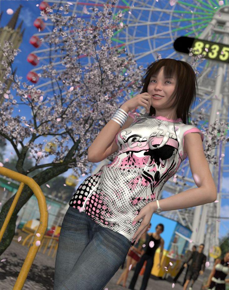 遊園地の桜 by wing-Ao
