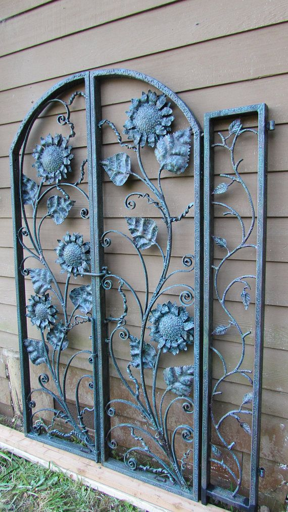 Van Gogh In Steel Forged And Hammered Magical Garden Gate