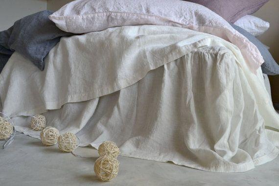 Antik weiße Stonewashed Reinleinen zerzaust von HouseOfBalticLinen