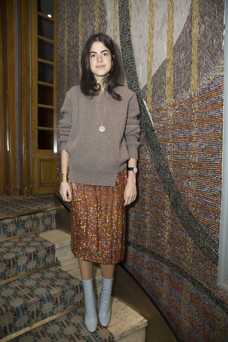 Leandra Medine during Paris Fashion Week wearing Alexander Lewis AW16
