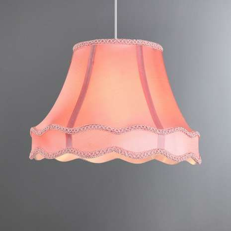 Eleanor Dusky Pink Light Shade   Dunelm