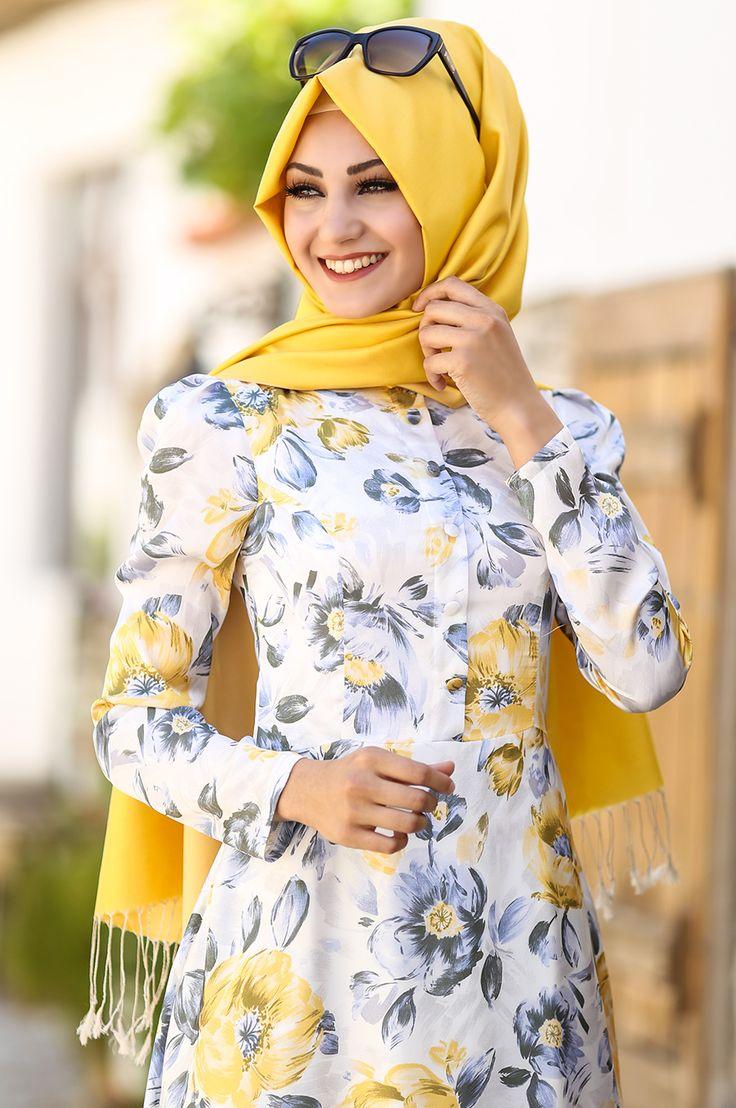 An Nahar - Çiğdem Elbise - Sarı