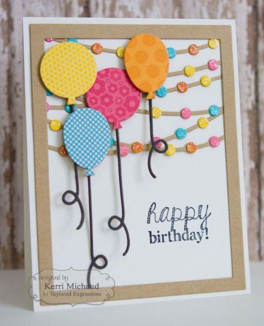 Birthday Balloons and Lights by Kerri Michaud*