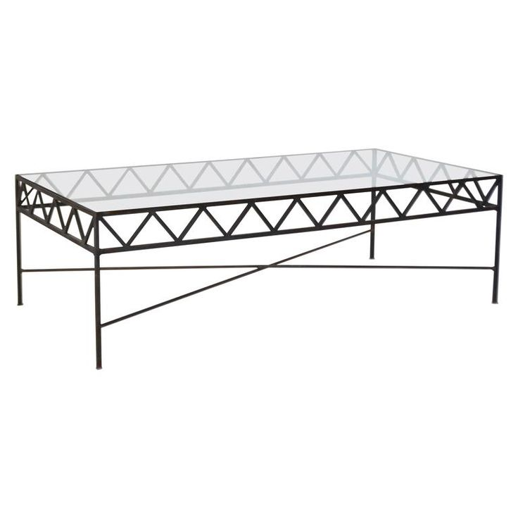 regency style handwrought iron coffee table
