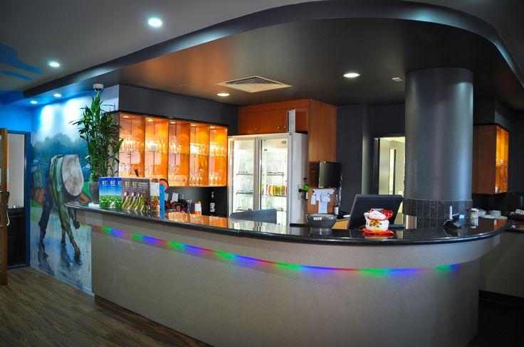 Custom Build Bar with LED Lighting Details of Springwood Garden. Springwood Tower, Brisbane.