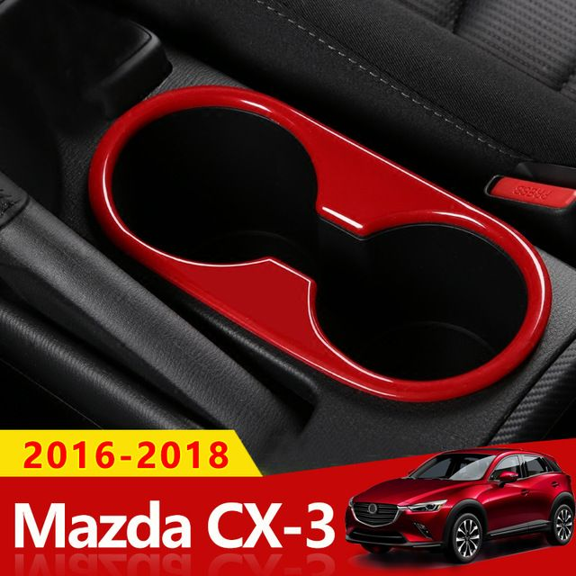 Red Stainless steel Interior door bowl Decorative trim For Mazda CX-5 2017 2018