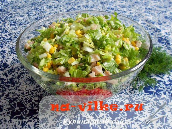 Салат с пекинской капустой и курицей   Застолье-онлайн