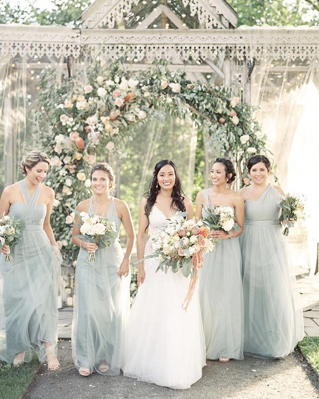 f496b87e8a7 Ethereal Long Bridesmaids Dresses • The Annabelle Dress Shown in Morning  Mist • Summer Dresses in Shades of Blue    photo by  laurenfair