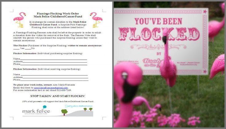 A Fun Flamingo Flocking Fundraiser