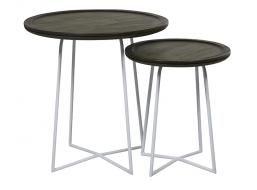 LINEA CROSS SIDE TABLES | Globe West