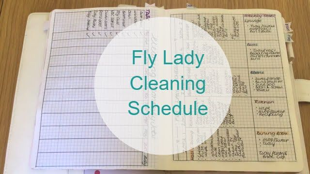 Cleaning Schedule following the Fly Lady Routine