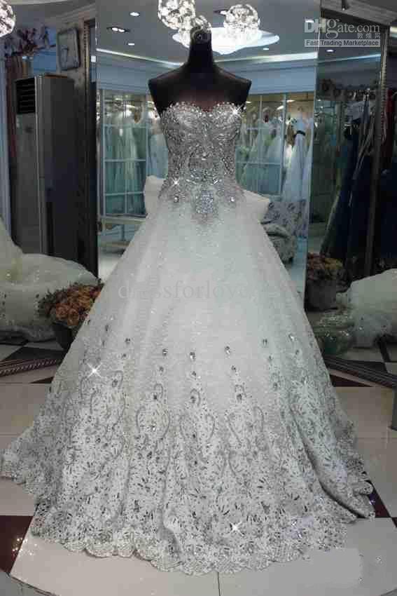 court bowkont rhinestone beads  wedding dresses