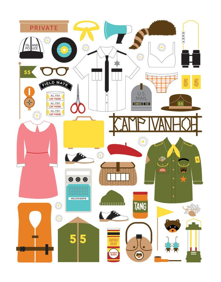 """Emily Dumas """"Dear Sam, Dear Suzy"""" This limited edition print is part of Spoke Art's annual Wes Anderson art exhibit, ..."""