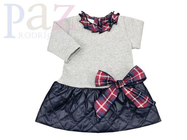 Paz Rodriguez. Платье теплое для новорожденной девочки Арт.004-69460