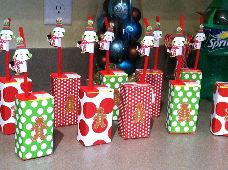Covered Juice Boxes For Kids Holiday Party