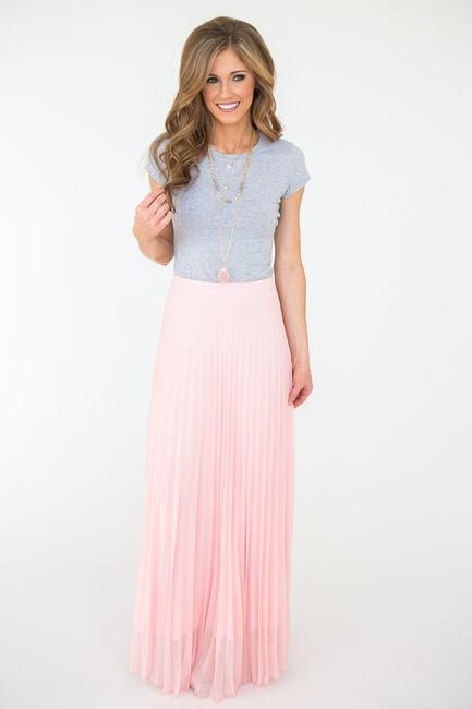 """Shop our Pleated Maxi Skirt. Pleated maxi skirt with lining. Polyester. Measures 44"""" from waist to hem. Always free shipping on US orders $50 & up!"""
