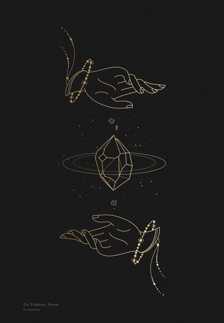 Palmistry Totem / Line Art by Cocorrina