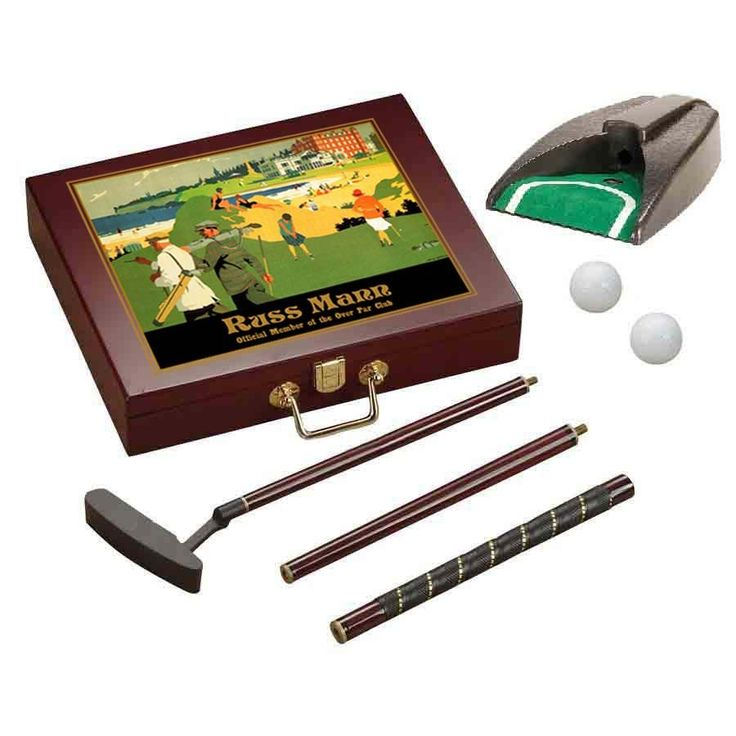 Personalized Executive Golf Set (Playing Golf) - Rosewood Finish