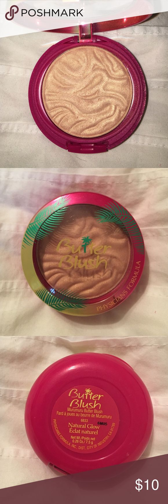 Physicians formula blush Butter blush by physicians formula in the shade natural glow. Super pretty color for summer and smells amazing. I used it once Physicians Formula Makeup Blush