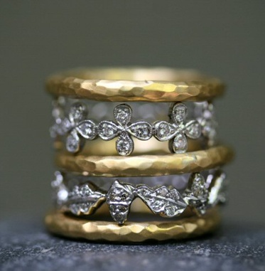 exquisite: Statement Rings, Cathy Waterman, Stacked Rings, Anniversaries Rings, Diamonds Rings, Gold Rings, Antiques Rings, Silver Rings, Mixed Metals
