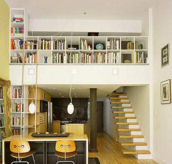 中断スタイル:コンテンポラリーホームフローティング階段アイデア