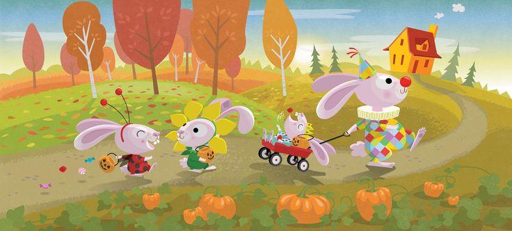 Happy Halloween! #trickortreat, #bunnies, #costumes, #kids, #fall