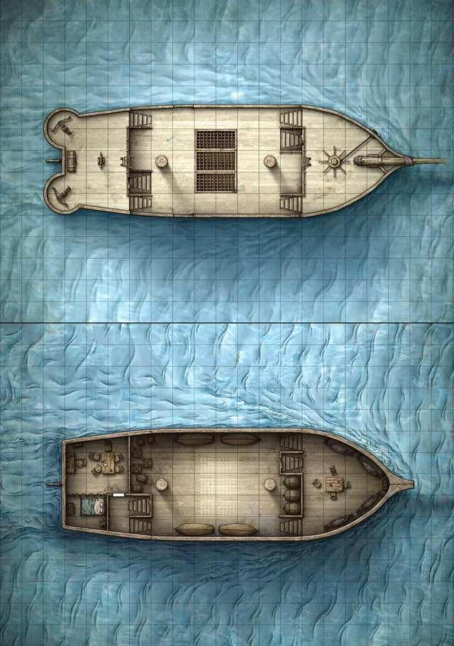 Ship Maps : Battlemaps, Tabletop, Maps,, Fantasy