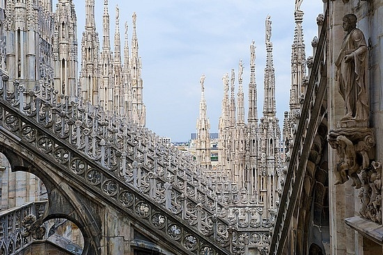 Rooftop architecture -  Milan, Italy
