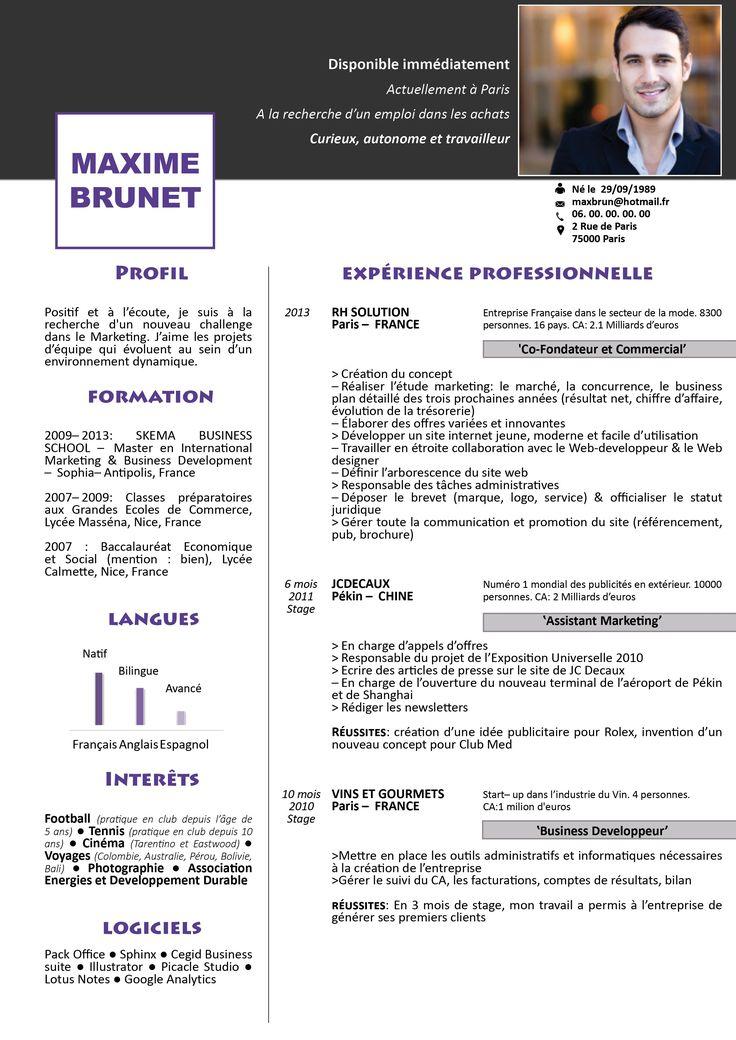 Modèle de CV Colonne à télécharger Télécharger gratuit