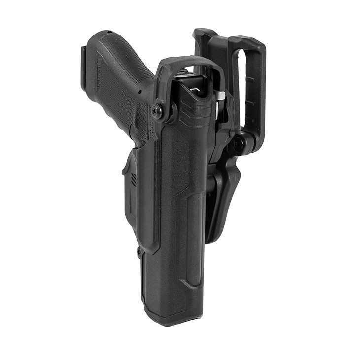 Tactical Right Hand Leg Automatic Locking Duty Pistol Holster w//Light for Glock