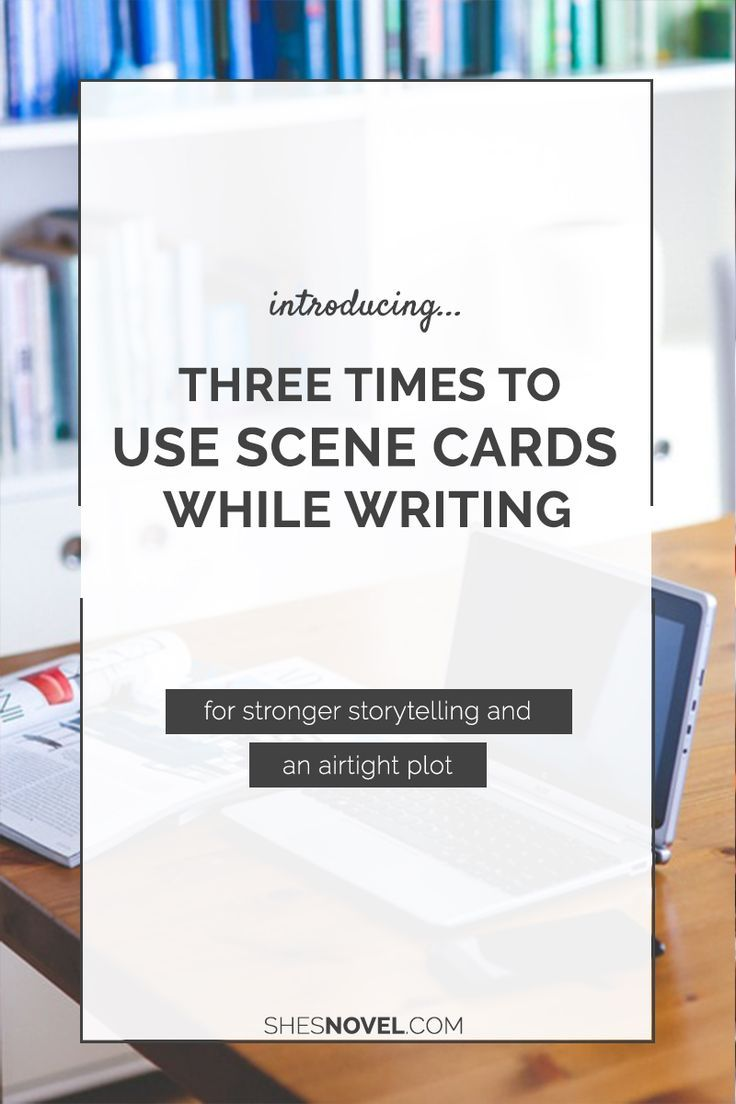Novel writing helper index cards