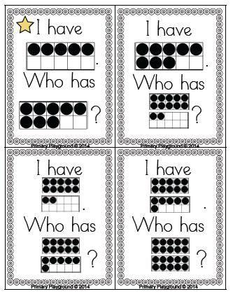 Ten frames game to build number sense
