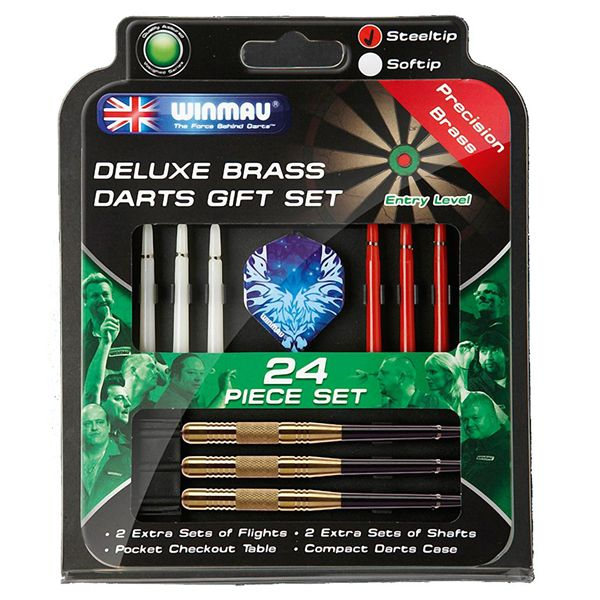 Fitness Stocking Fillers - WINMAU Deluxe Brass Darts Gift Set from Dart Shop.