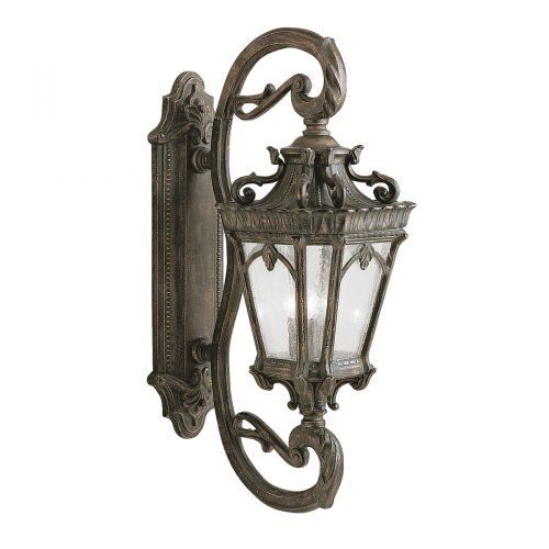 Kichler Lighting 9359LD 4 Light Tournai Outdoor Sconce, Londonderry by Kichler. $798.00. From the Manufacturer                Finish: Londonderry, Light Bulb:(4)60w B10 Cand F Incand With its heavy textures, dark tones, and fine attention to detail, the Tournai Collection stands out from other outdoor fixtures. If you want the classic profile of the wall lantern, this Tournai outdoor lamp deserves your attention. Each piece is hand-made from cast aluminum, off...